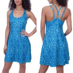 Patagonia Geometric Design Blue Athletic Dress XS